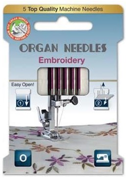 Organ 130/705H - Embroidery ECO pack 5 Assorted size