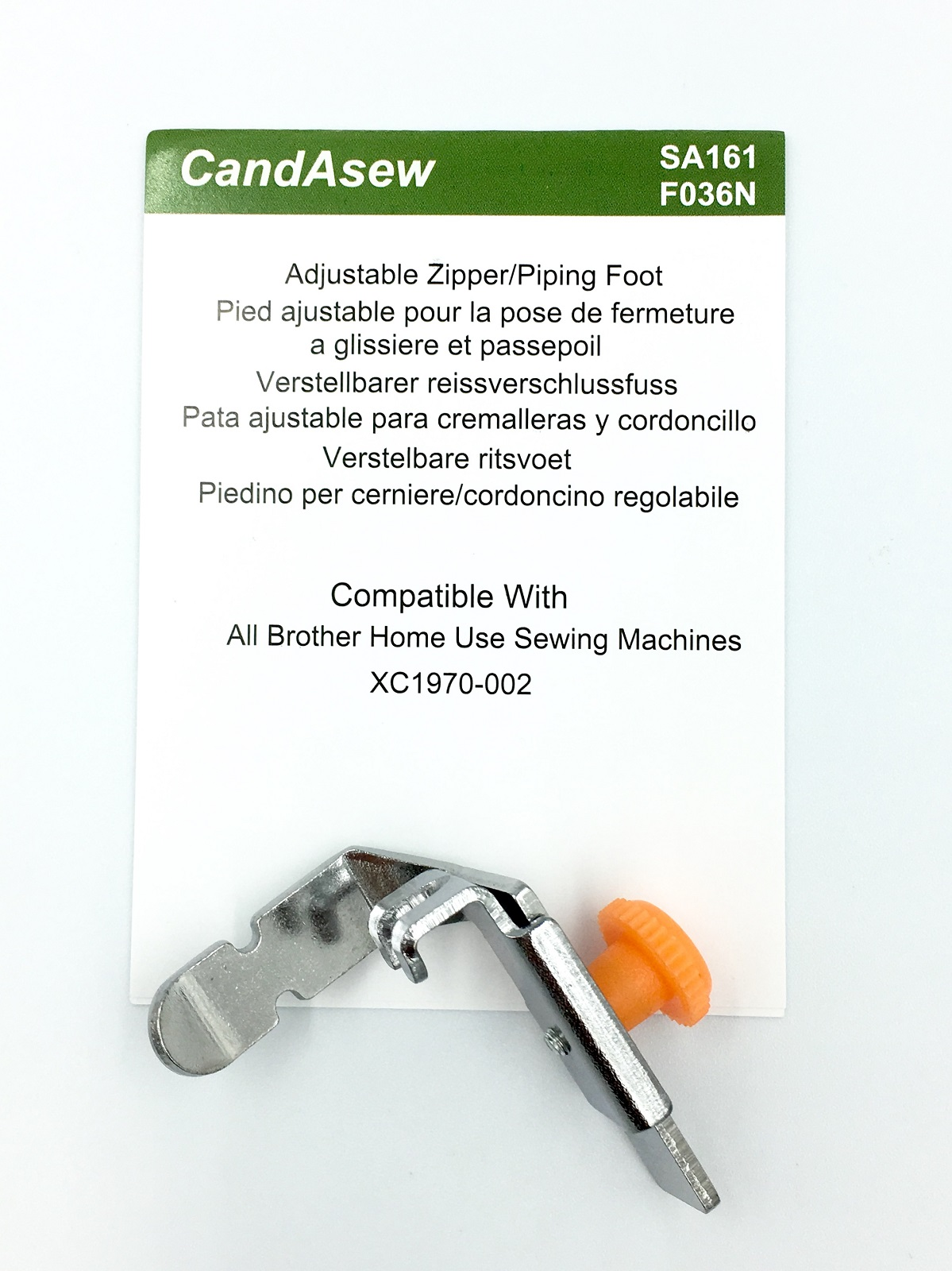 Candasew Adjustable Zip/Piping Foot for Brother SA161